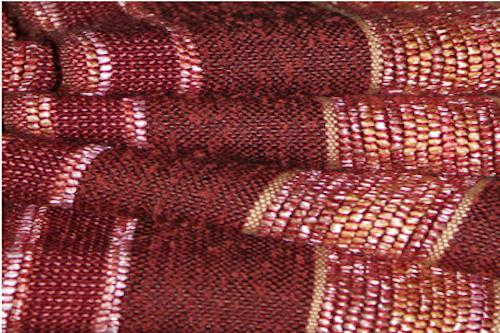 red weaving sample