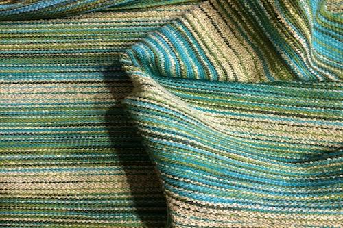 green weaving sample